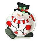 NEW Fitz and Floyd Cheers Snack Bowls (Set of 2) Snowmen Snowman Christmas