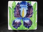 Noble Excellence Floral Square Dinner Plate, Iris, purple, 9-3/8