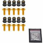 10x Gold Windscreen Fairing Bolts Wellnuts 5mm Set Kawasaki Ninja ZX ZZR Z10x00