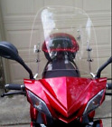 Clear Moped Scooter Windshield Windscreen Universal W Hardware For Motorcycle