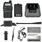BaoFeng UV 5R Dual Band Two Way Radio w Battery  Drop In Charger Black