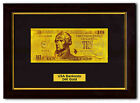 US Money Bank Note Collection $10 24k Real Gold Banknote With Glass Photo Frame