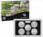 2016 America The Beautiful Quarter 5 COIN SILVER PROOF SET with Box