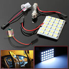 2x 24 LED 5050 SMD Car Interior Globe Bulb Panel Lights T10 BA9S Festoon Adapter