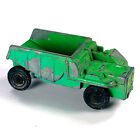 Vintage loader diecast dump truck minuture toy antique green - been played with