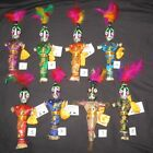 3 - VooDoo Dolls - 10 Inch  New Orleans Mardi Gras + FREE Small Magnet Mask