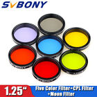 125 Eyepiece Filter Set Colored Planetary + Moon Filters Kit for Telescope US