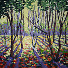 Oil Painting, Canvas, Abstract Painting, Impressionism, Landscape,THICK Forest