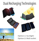 3 X Solar Panels Battery USB Solar Power Bank Charger Built In LED Flashlight