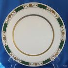 Fitz and Floyd Fleur Orientale Dinner Plate Green Gold Trim 10.25
