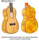 OHANA CK 50WG Cedar Top  Willow Wood Back Sides Concert Ukulele