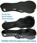 Case Ohana UCH 21 Hard Case for Soprano Uke fits soprano ukes w Geared Tuning