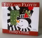 Fitz and Floyd Christmas Frosty's Frolic Snack Plate & Spreader - New in Box