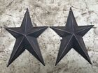 (Set of 2 ) WHIMSICAL BLACK BARN STARS 8