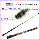 WIDE BAND SMA MALE Antenna for Police Fire Receiver Scanner AM W FM YAESU VR-160