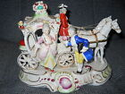 Vintage--HORSE and CARRIAGE PORCELAIN FIGURINE/MADE IN JAPAN