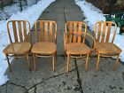 (4)  Mid Century Modern Thonet Style Bentwood Dining Chairs by ZPM Radomsko