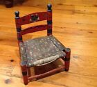 Antique Vintage Child's Chippy Shabby Painted Folk Art Chair -