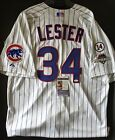 JON LESTER SIGNED GAME ISSUED WORN CHICAGO CUBS NLCS POSTSEASON HOME JERSEY JSA