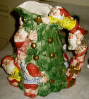 VTG FITZ & FLOYD  CHRISTMAS TREE PITCHER 2 quarts gifts presents