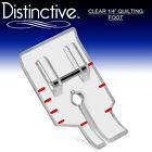 Distinctive Standard Clear 1 4 Quilting Sewing Presser Foot w Free Shipping