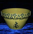 RRP ROSEVILLE OHIO SPONGEWARE Yelloware BLUE WHEAT STONEWARE Mixing Serving BOWL