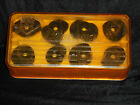 VINTAGE KENMORE DELUXE ZIG ZAG Sewing Machine ATTACHMENTS -16 CAMS PLASTIC CASE