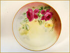 ANTIQUE LIMOGES PLATE HAND PAINTED ROSES PICKARD CHIGAGO ARTIST-MICHE C.1900