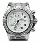 16 Carat Diamond Breitling A13370 Super Avenger Chronograph Box Papers 4