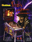 (4) HORROR THEME PINBALL MACHINE Flyers FREDDY FRANKENSTEIN DRACULA DEVILS DARE