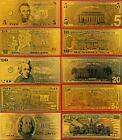 Set of 5 gold bank notes!!!!!!