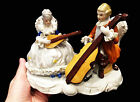 ANTIQUE VICTORIAN PORCELAIN DRESDEN STILE MUSICAL GROUP FIGURINE,EXCELLENT COND!