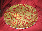 222 FIFTH BELORADO RED TOILE BIRD FLORAL DINNER PLATES - SET OF 4 - NEW