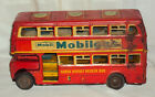 VINTAGE FRICTION HAUSA DOUBLE DECKER ADVERTISEMENT BUS MOBIL GAS  GOOD YEAR 1960