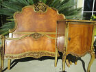 Antique French VICTORIAN style Carved Satin Wood  Bedroom set 1920s 13 pc