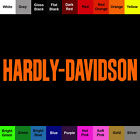Hardly Davidson Decal Joke Sticker Words  Phrases Choose color  Size