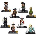 Mini Figures Pirates of the Caribbean Jack Sparrow Davy Jones Zombie Fits Lego L