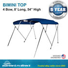 New Pontoon Bimini Top Boat Cover 4 Bow 54 H 79 84 W 8 ft Long Navy Blue