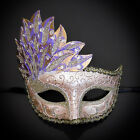 Gold Pink Purple Venetian Leaf Engraving Masquerade Mask for Women M7255
