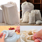 10 50 100 Pack Reusable Natural Cotton Muslin Drawstring Bags Tea Soap Herbs