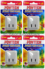 4X Single Outlet AC Wall Plug On/Off LIGHTED POWER SWITCH Electrical Adapter