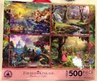 Disney Thomas Kinkade Set of 4 500 Piece Puzzles Puzzle Snow White Little Beauty