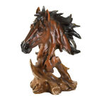 Stallion Head Bust Sculpture Horse Statue Western Rustic Home Decor