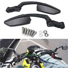 Standard Street Motorcycles 8mm 10mm Custom Rearview Mirrors Angled Steady Black