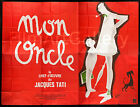MON ONCLE MY UNCLE huge French billboard poster Jacques Tati RI Filmartgallery