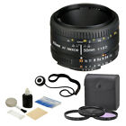 NEW Nikon 50mm f 18D AF Nikkor Autofocus Lens + 3 Piece Filter Set Complete Kit