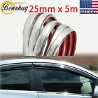 1X 25MM16FT Decoration Chrome Silvery Moulding Body Trim Bumper Protector Strip