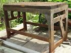 Antique Industrial Line Shaft Work Bench Table Steampunk Machine Age Cast Iron