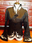 AUTHENTIC ORIENTAL TUNIC JACKET TOP BLOUSE sz M Frog Closures down the front