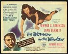 THE WOMAN IN THE WINDOW 1944 TITLE LOBBY CARD CLASSIC FILM NOIR FRITZ LANG FINE